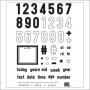 Elles Studio Clear Stamps Numbers
