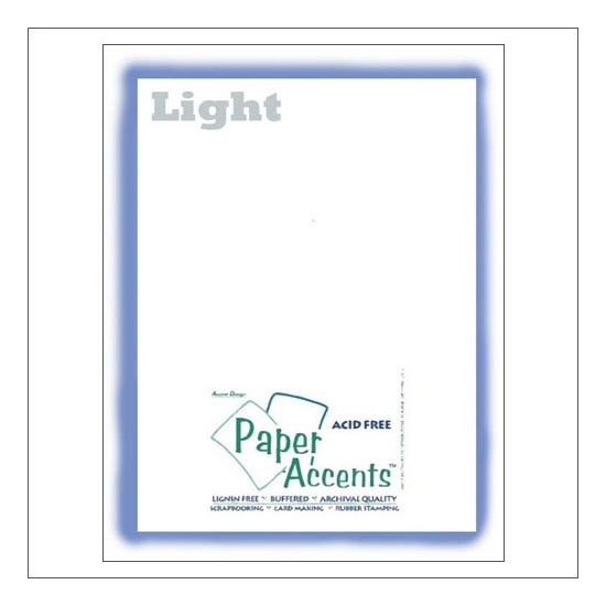 Paper Accents Vellum Sheet Light White