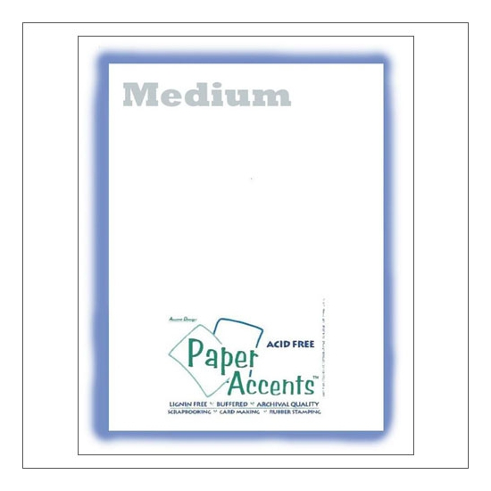 Paper Accents Vellum Sheet Medium White