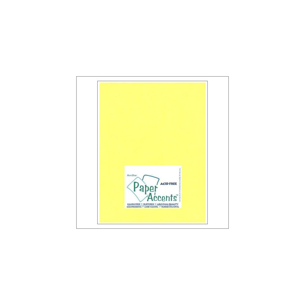 Paper Accents Vellum Sheet Daffodil