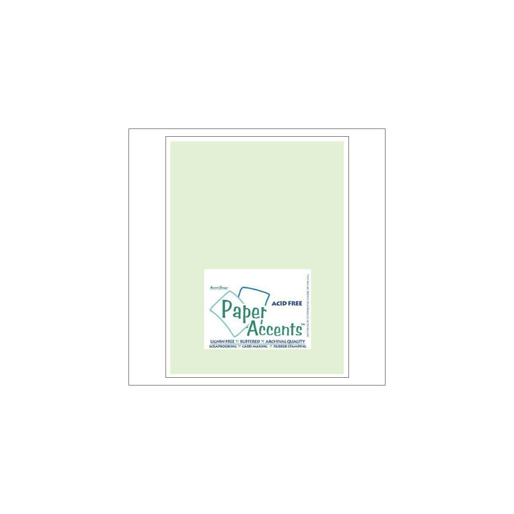 Paper Accents Vellum Sheet Light Green