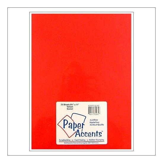 Paper Accents Vellum Sheet Garnet