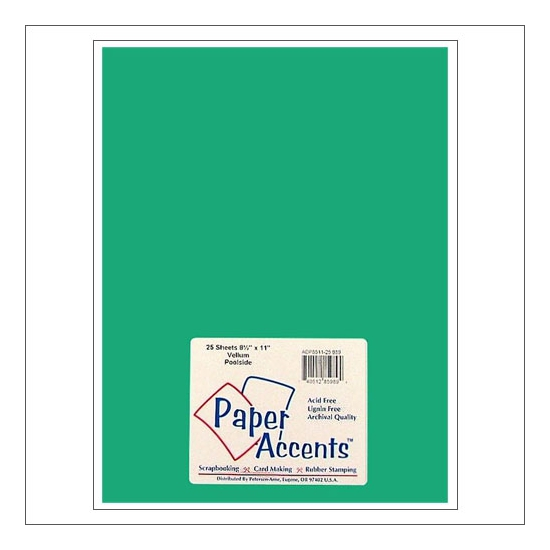 Paper Accents Vellum Sheet Poolside