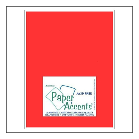 Paper Accents Vellum Sheet Red