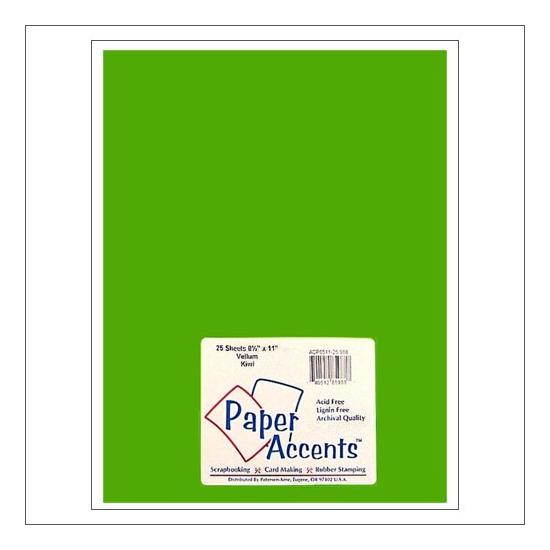 Paper Accents Vellum Sheet Kiwi