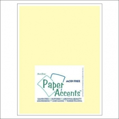 Paper Accents Vellum Sheet Light Yellow