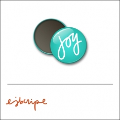 Scrapbook and More 1 inch Round Flair Badge Button Teal Joy by Elise Blaha Cripe
