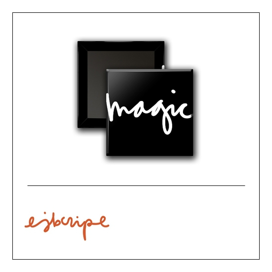 Scrapbook and More 1 inch Square Flair Badge Button Black Magic by Elise Blaha Cripe