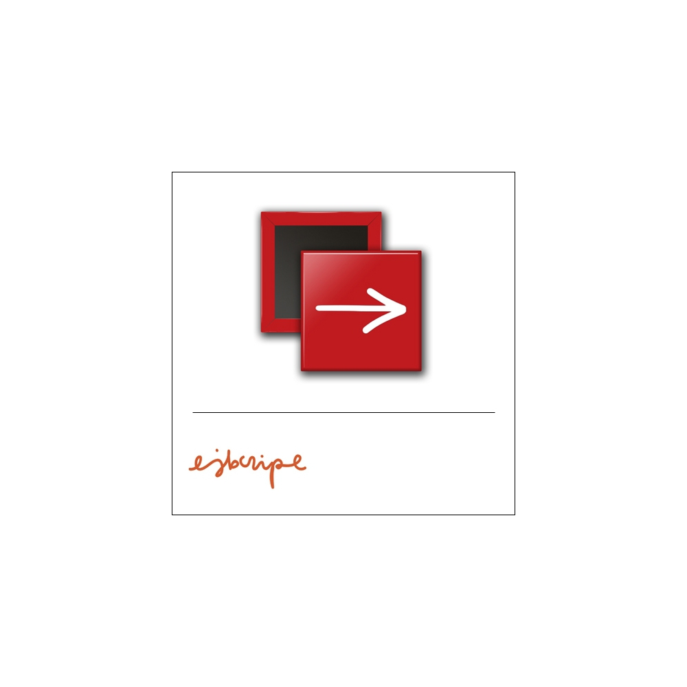 Scrapbook and More 1 inch Square Flair Badge Button Red Arrow by Elise Blaha Cripe