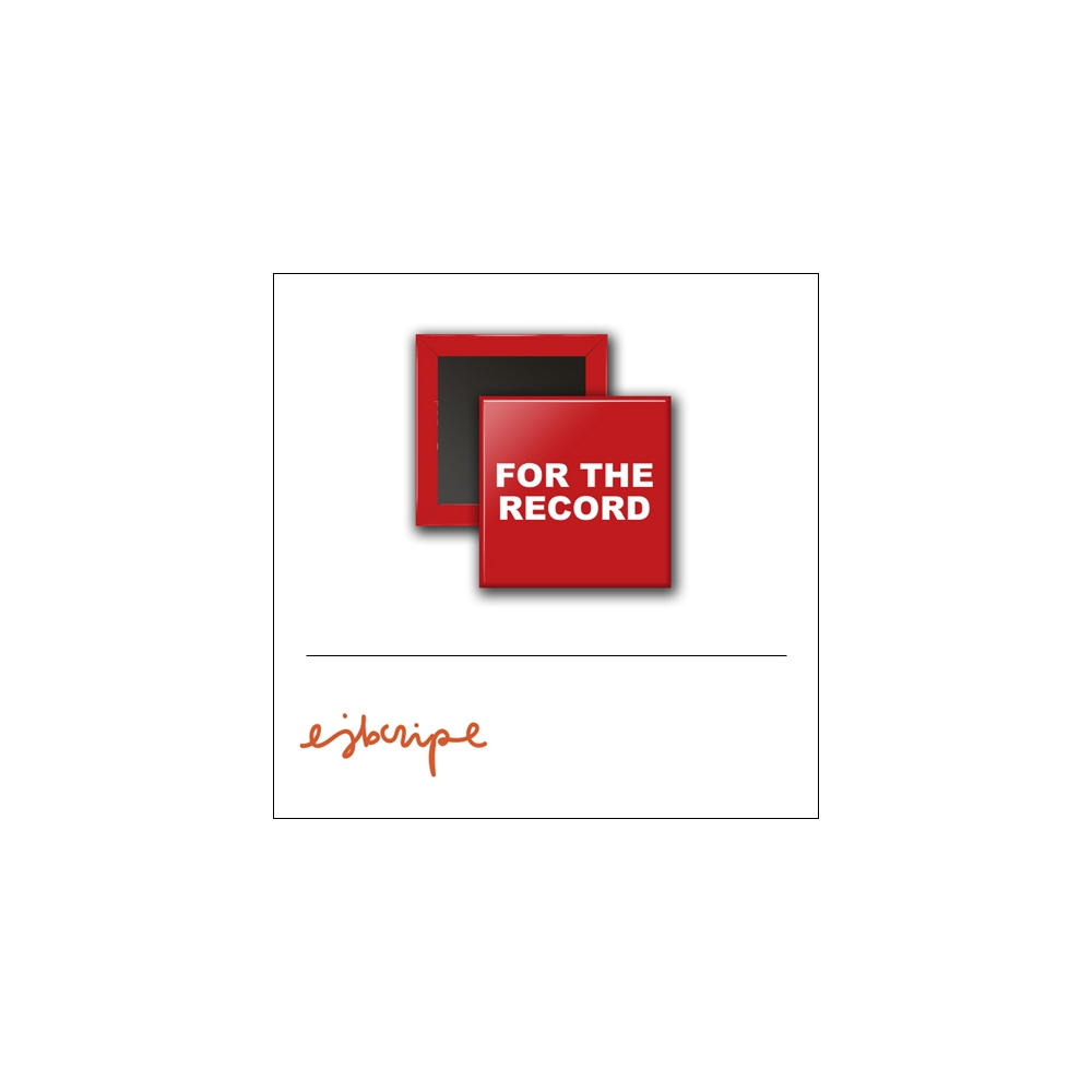 Scrapbook and More 1 inch Square Flair Badge Button Red For The Record by Elise Blaha Cripe