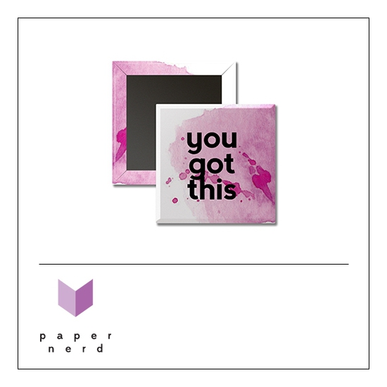 Scrapbook and More 1 inch Square Flair Badge Button You Got This by Nina Christensen