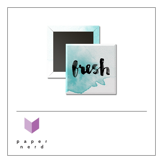 Scrapbook and More 1 inch Square Flair Badge Button Fresh by Nina Christensen