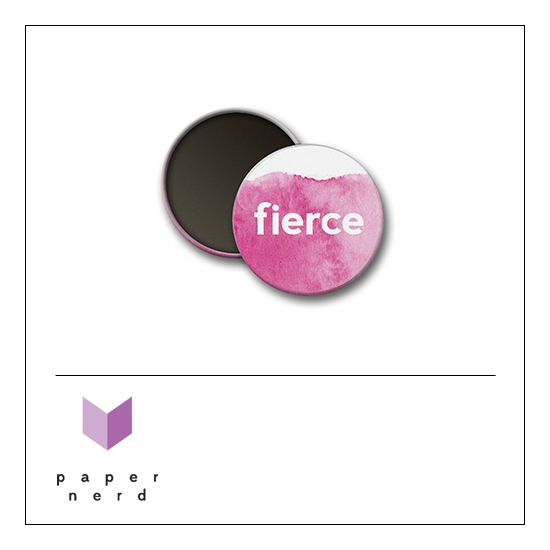 Scrapbook and More Round Flair Badge Button Fierce by Nina Christensen