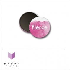 Scrapbook and More Round Flair Badge Button Fierce by Nina Christensen