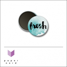 Scrapbook and More Round Flair Badge Button Fresh by Nina Christensen