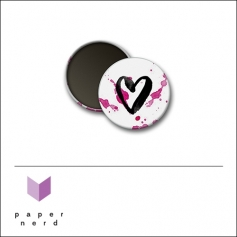 Scrapbook and More Round Flair Badge Button Heart by Nina Christensen