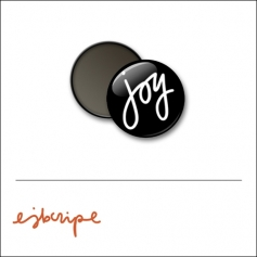 Scrapbook and More 1 inch Round Flair Badge Button Black Joy by Elise Blaha Cripe