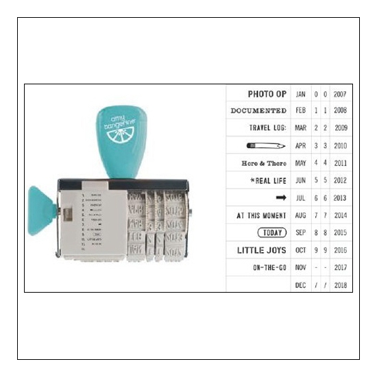 American Crafts Roller Date Stamp Ready Set Go Collection by Amy Tangerine