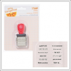 American Crafts Roller Date Stamp Yes Please Collection by Amy Tangerine