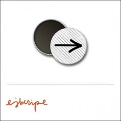 Scrapbook and More 1 inch Round Flair Badge Button White Black Diagonal Stripe Arrow by Elise Blaha Cripe