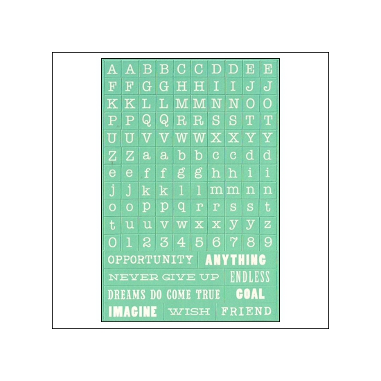 My Minds Eye Alpha and Word Sticker Sheet Skys The Limit Find Your Wings and Fly Collection by Rhonna Farrer