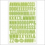 Simple Stories Alphabet Letter Sticker Sheet Light Green Snap Life Documented Collection