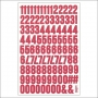 Simple Stories Number Sticker Sheet Red Snap Life Documented Collection