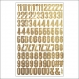 Simple Stories Number Sticker Sheet Woodgrain Snap Life Documented Collection