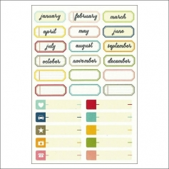 Simple Stories Label Sticker Sheet Snap Life Documented Collection