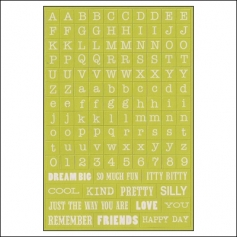 My Minds Eye Alpha and Word Sticker Sheet Up and Away Find Your Wings and Fly Collection by Rhonna Farrer