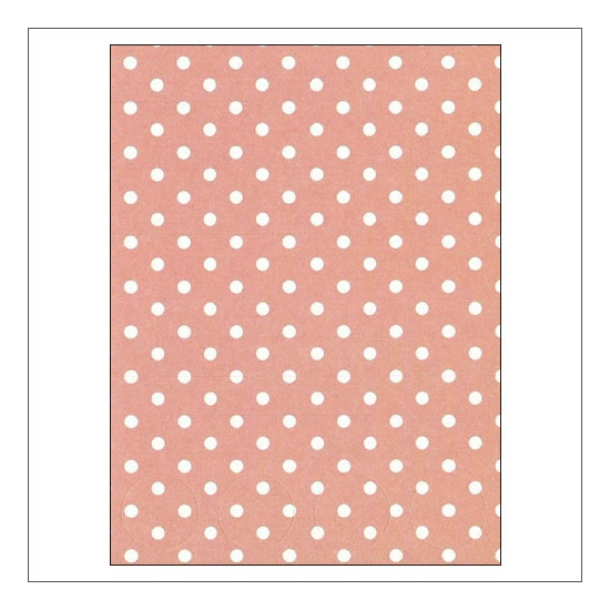Simple Stories Basic Washi Paper Tape 3x4 inch Sheet Pink Dots Snap Life Documented Collection