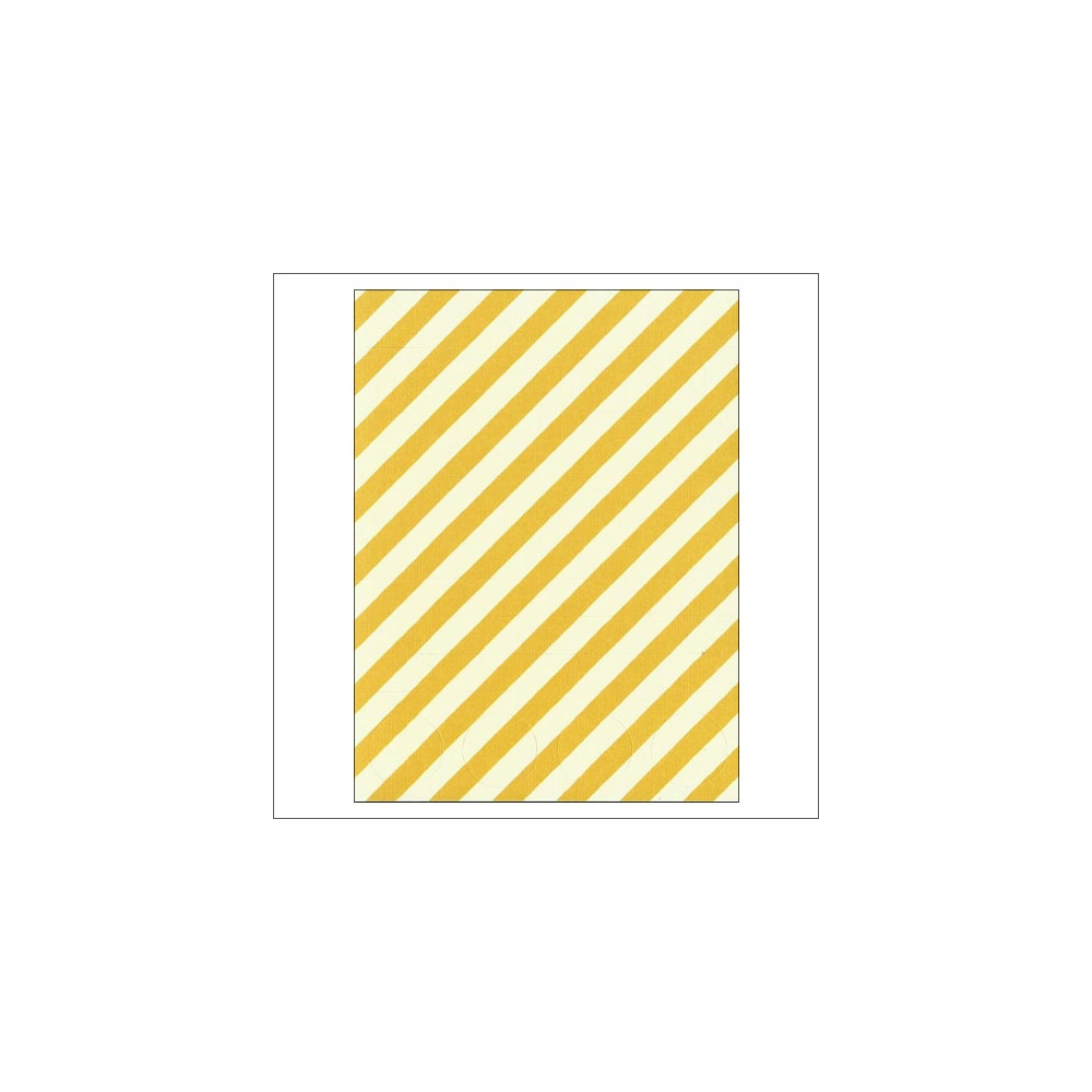 Simple Stories Basic Washi Paper Tape 3x4 inch Sheet Yellow Diagonal Stripes Dots Snap Life Documented Collection