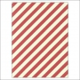 Simple Stories Basic Washi Paper Tape 3x4 inch Sheet Red Diagonal Stripes Snap Life Documented Collection