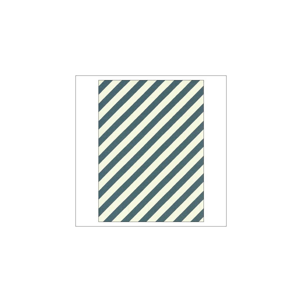 Simple Stories Basic Washi Paper Tape 3x4 inch Sheet Dark Blue Diagonal Stripes Dots Snap Life Documented Collection