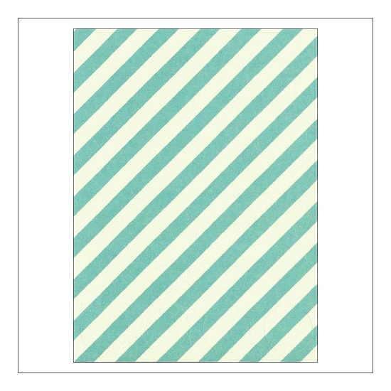 Simple Stories Basic Washi Paper Tape 3x4 inch Sheet Aqua Diagonal Stripes Dots Snap Life Documented Collection