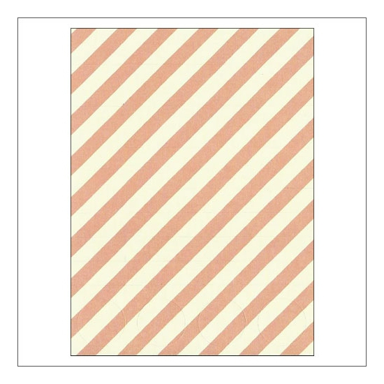 Simple Stories Basic Washi Paper Tape 3x4 inch Sheet Pink Diagonal Stripes Dots Snap Life Documented Collection