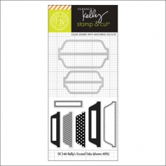 Hero Arts Kellys Scored Tabs Stamp and Cut Clearly Kelly Collection by Kelly Purkey