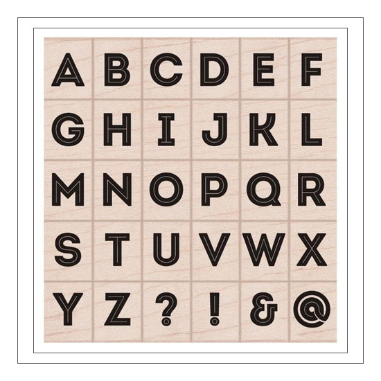 Hero Arts Kellys Bold Font Wood Block Rubber Stamps Clearly Kelly Collection by Kelly Purkey