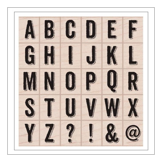 Hero Arts Kellys Shadow Letters Wood Block Rubber Stamps Clearly Kelly Collection by Kelly Purkey