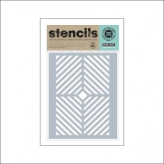 Hero Arts Stencil Kellys Window Pane Stencil Clearly Kelly Collection by Kelly Purkey