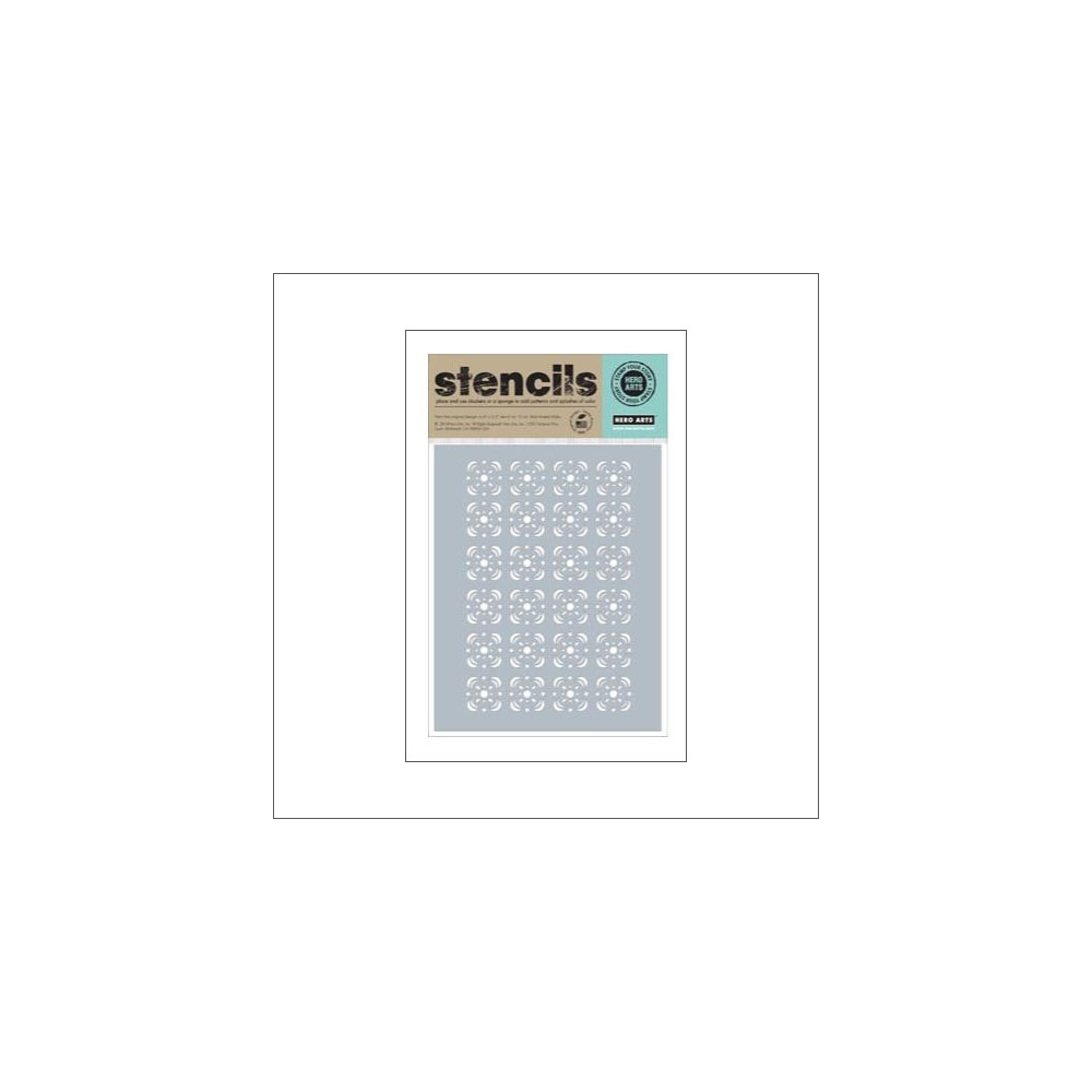 Hero Arts Stencil Kellys Floral Tile Stencil Clearly Kelly Collection by Kelly Purkey