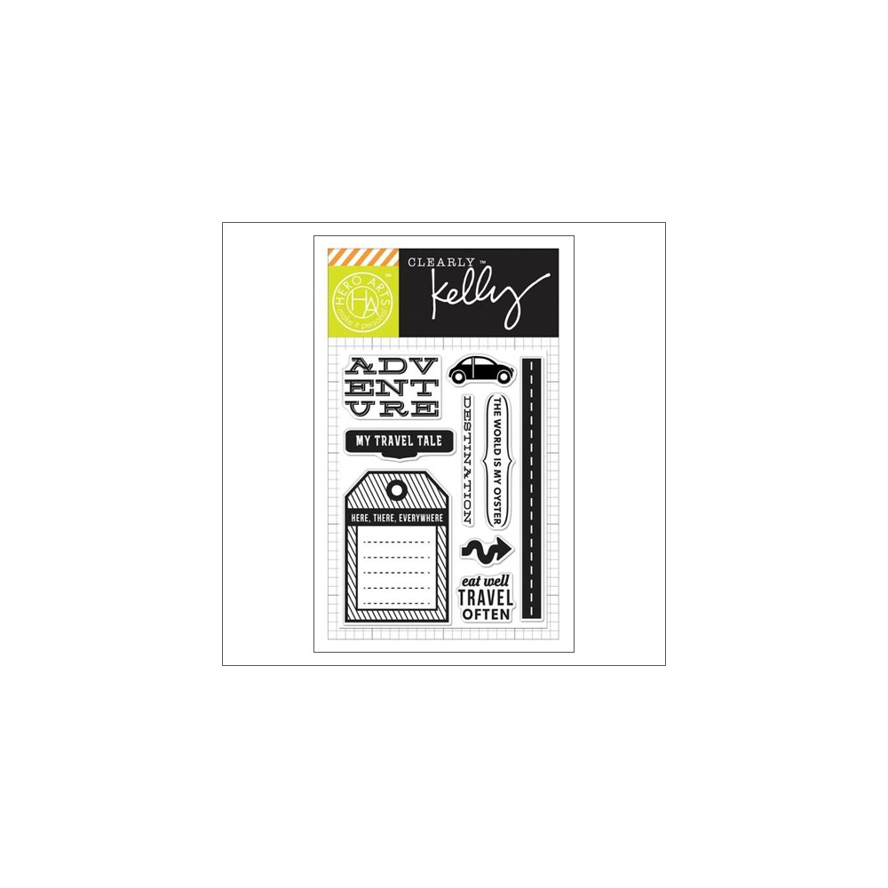 Hero Arts Kellys Destination Clear Stamps Clearly Kelly Collection by Kelly Purkey
