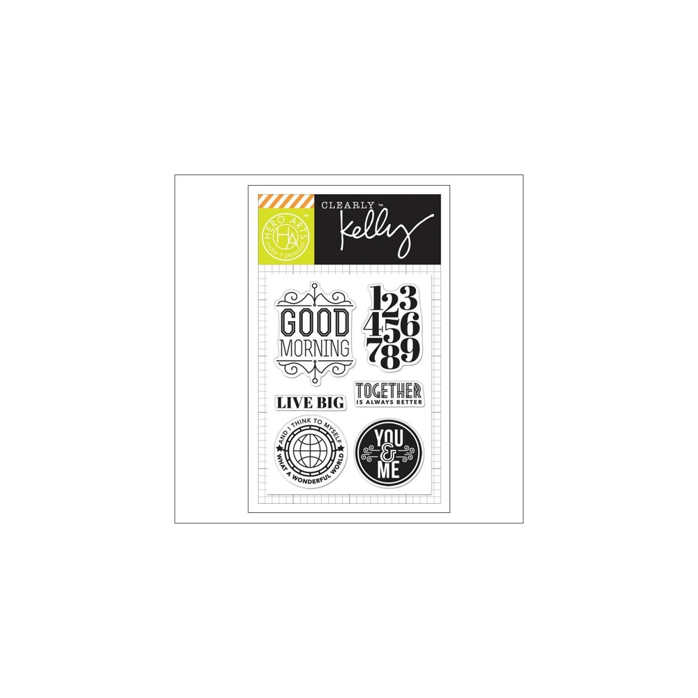 Hero Arts Kellys Live Big Clear Stamps Clearly Kelly Collection by Kelly Purkey