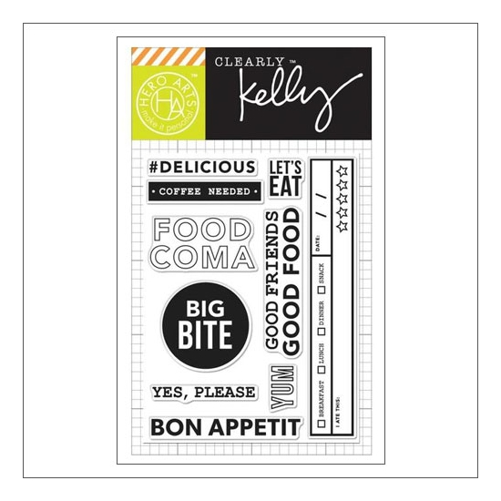 Hero Arts Kellys Food Coma Clear Stamps Clearly Kelly Collection by Kelly Purkey