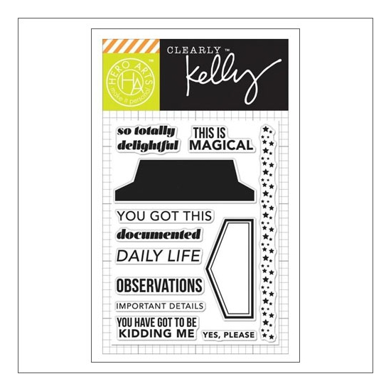 Hero Arts Kellys Daily Life Clear Stamps Clearly Kelly Collection By Purkey