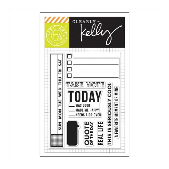Hero Arts Kellys Take Note Clear Stamps Clearly Kelly Collection by Kelly Purkey