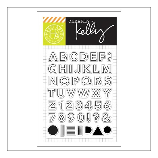 Hero Arts Kellys Outline Letters Clear Stamps Clearly Kelly Collection by Kelly Purkey