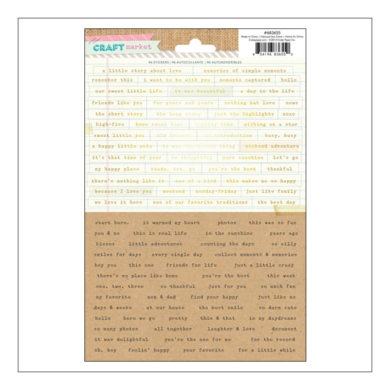 Crate Paper Word and Phrase Stickers Craft Market Collection