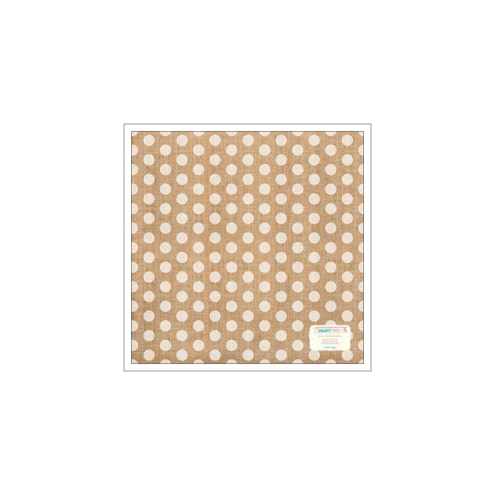 Crate Paper Burlap Sheet Polka Dots Craft Market Collection