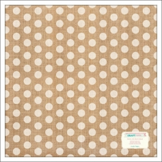 Crate Paper Burlap Sheet Polka Dots Craft Market Collection